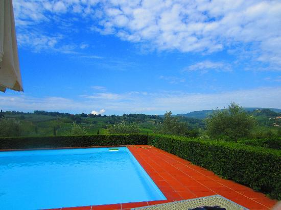 Pietrafitta Podere La Costa: Pool and view