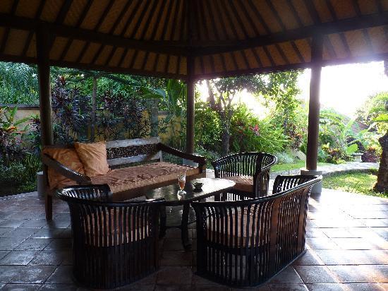 Puri Mangga Sea View Resort & Spa: our private terace! beautiful