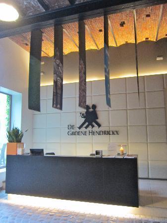 De Groene Hendrickx: Reception desk