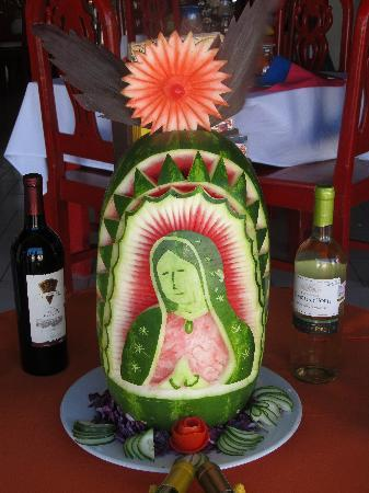 La Mission: Carved watermelon