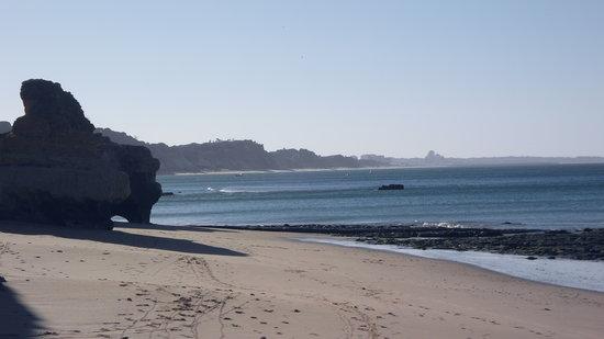 Olhos de Agua, Portugal: Olhos beach, 8.00 AM