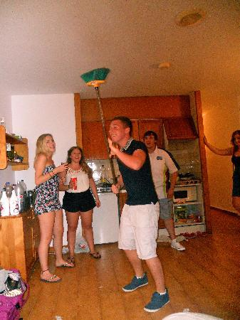 Sun Beach: Drinking games in our room every night!