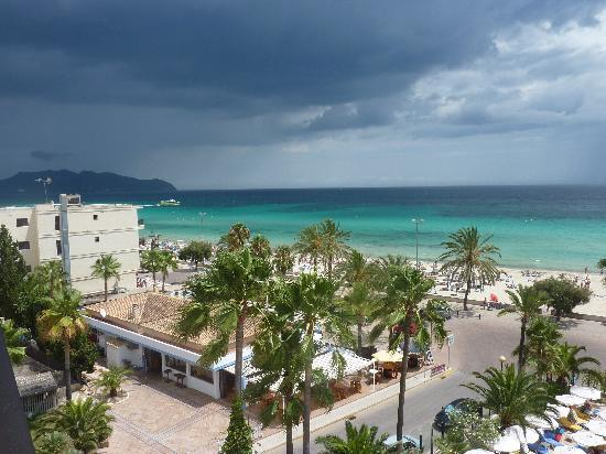 SENTIDO Playa del Moro: Lovely view from the balcony of the storm approaching!