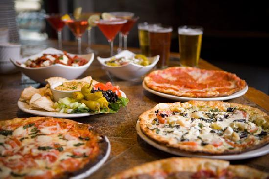 Waterstone Fire Roasted Pizza: pizza selections