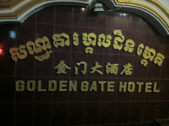 Golden Gate Hotel: Sign