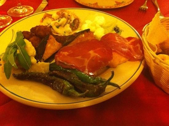 Osteria La Candina de Seppe Tise: antipasto misto