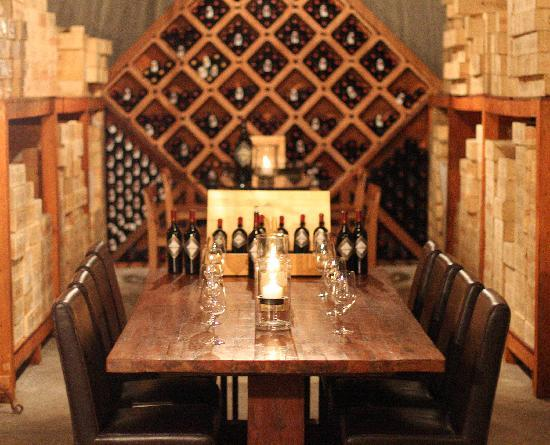 von Strasser and Lava Vine Winery : The Library Tasting Room in the Wine Cave.