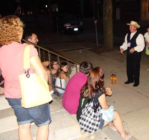 Ghosts of Gettysburg: One of our Ghost Guides in action