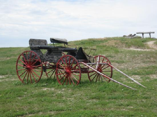 Prairie Homestead Historic Site: Lonely wagon