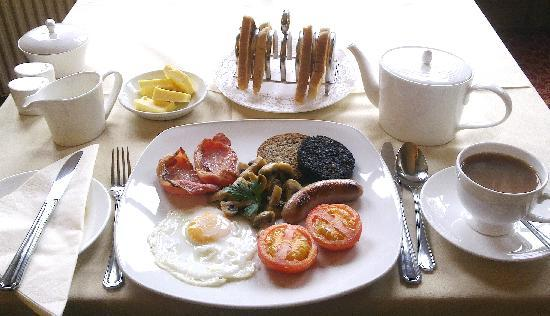 Hawick, UK: Breakfast at The Mansfield House Hotel.