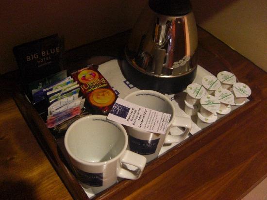 Big Blue Hotel: Tés y cafés obsequio del mismo hotel