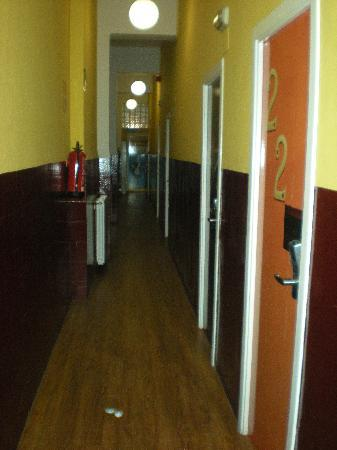 Home Backpackers Hostel: corridoio