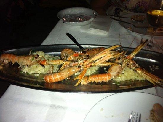 Orsan Yachting Club Restaurant: scampi con risotto al burro