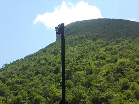 Profile Lake: Profile returned to cliff on Cannon Mountain
