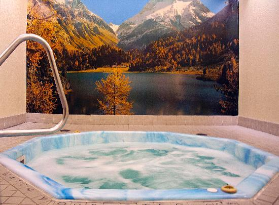 Downtowner Motor Inn: Relax in the whirlpool.
