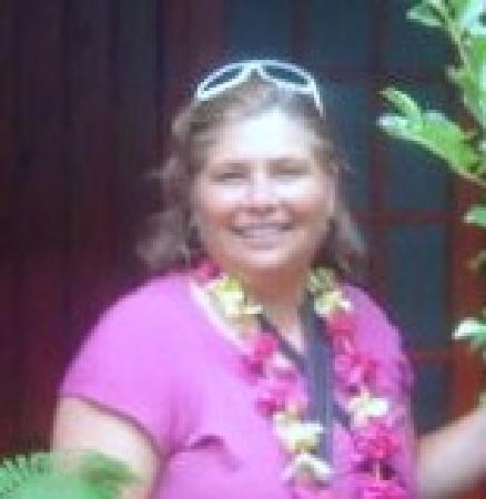 Hostal Aukara Rapa Nui: Aca estoy a la entrada de mi habitación.
