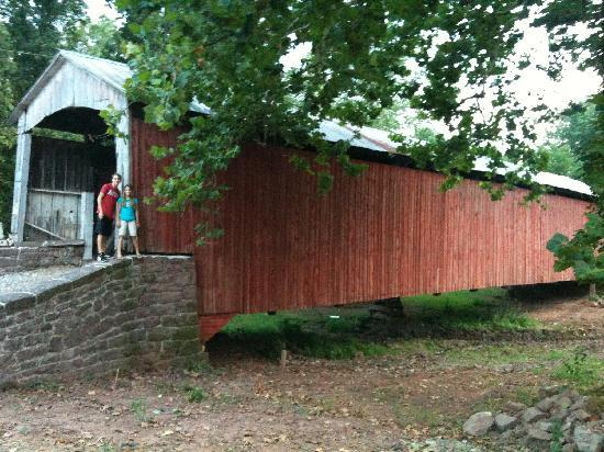"A Suite Escape: Covered bridge on our ""tour"""