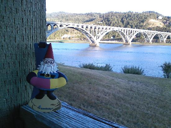 Jot's Resort: As you can see, we had Jack our gnome with us!