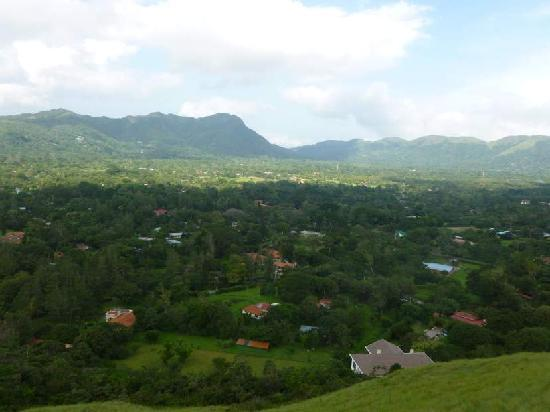 The Golden Frog Inn: View from the hill behind the inn