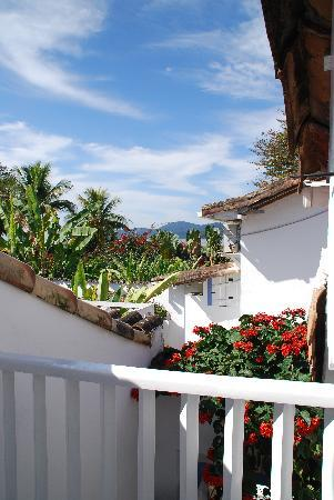 Pousada Casa de Paraty: View from the upstairs bedroom 7-2011