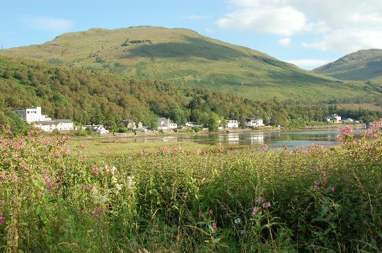 Loch Long Hotel to the left