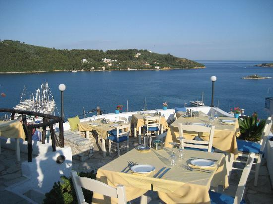 The Windmill Restaurant : Tables on terraces.