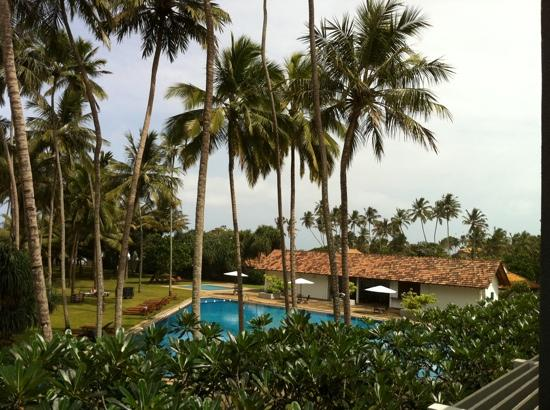 Wadduwa, Sri Lanka: view from our room on 2nd floor