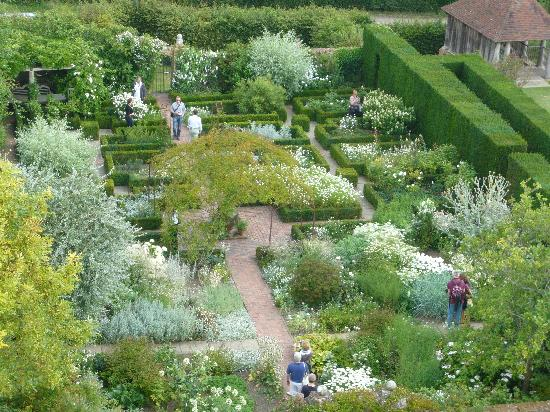 Sissinghurst, UK: White Garden from the tower