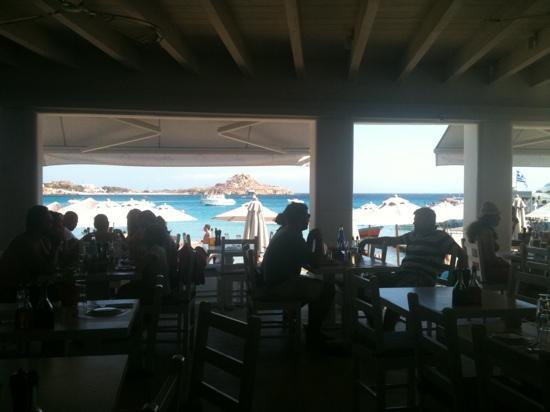 Avli Tou Thodori: vista dal ristorante