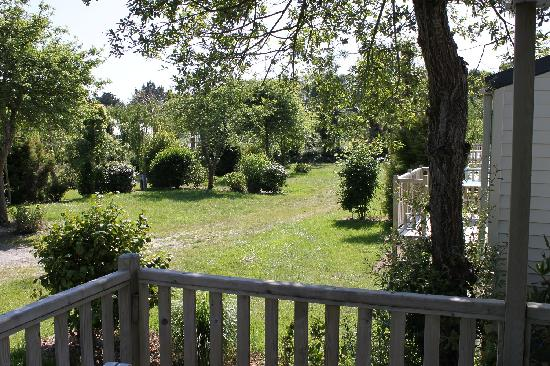 Camping Sandaya Les 2 Fontaines: vue du mobilhomme