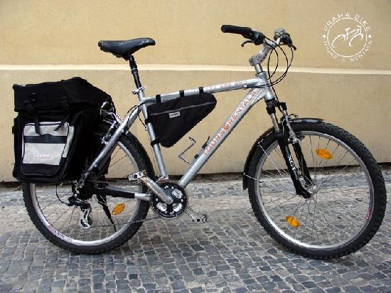 "Praha Bike -  Bicycle Tours & Rentals : Praha Bike - mountain bike with panniers 26"", 24gears"