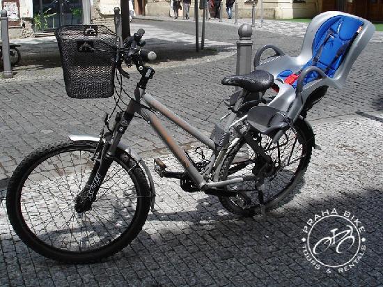 Praha Bike -  Bicycle Tours & Rentals : Praha Bike - mountain bike with child seat up to 22kg