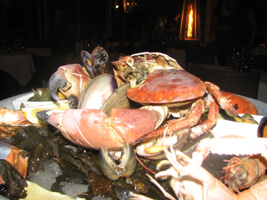 Restaurant Saint Barth: plateau frutti di mare