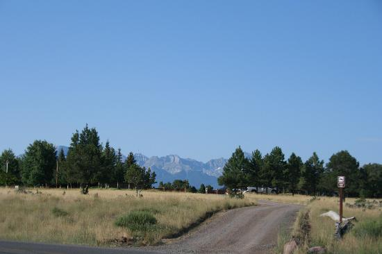 Ridgway State Park: view from the campground