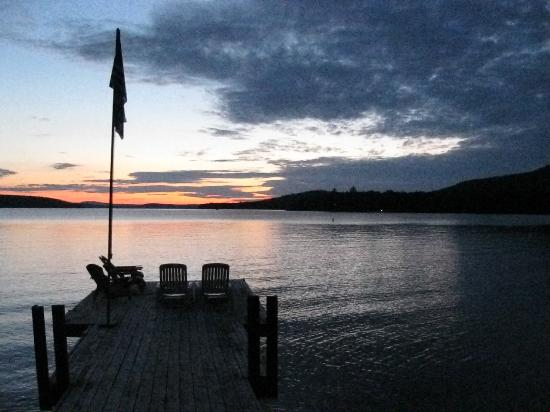 Cozy Moose Lakeside Cabin Rentals: Lake and dock