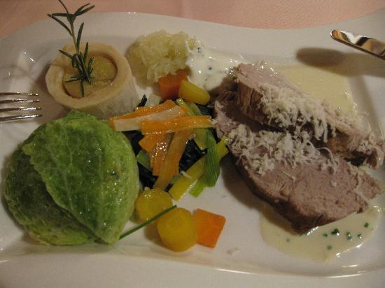 Gourmet Restaurant Kronenstübli: der wunderbare Kalbstafelspitz