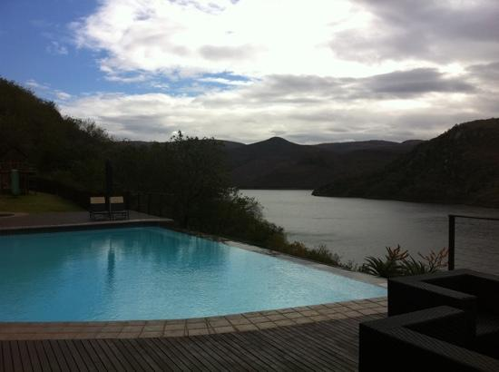 Jozini, Sydafrika: view from the bar & pool