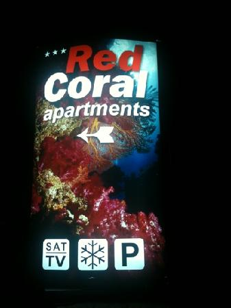 Red Coral Apartments: red coral road sign