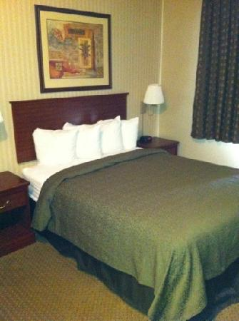 Quality Inn Valley Suites: basic but comfortable bedroom