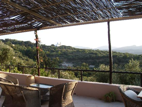 Elia Hotel & Spa: Terrasse pour dîner et petit dej