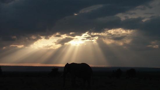 Fairmont Mara Safari Club: Un tramonto alle 6 del pomeriggio