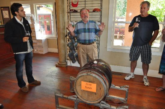 Napa Valley Wine Country Tours: Sonoma - Roche, Tasting from the Barrel