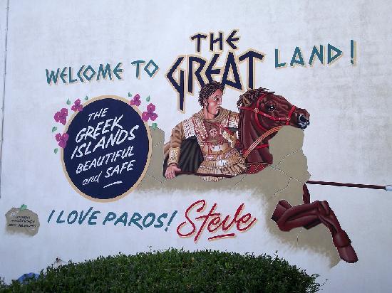 Ragousis Apartments: La pub de Steve pour Paros