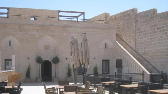 Midyat, Turquie : Restaurant/bar - free wi-fi here and downstairs