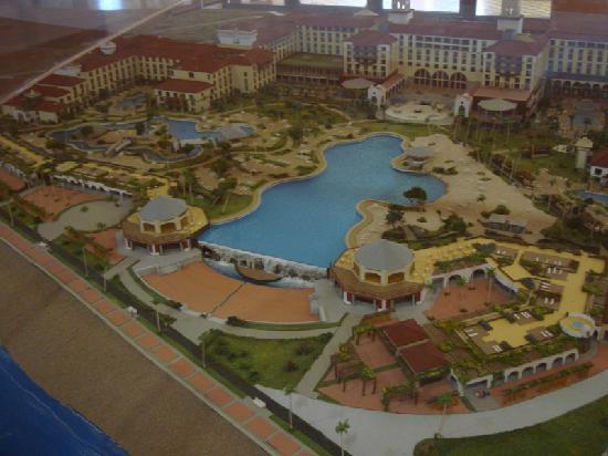 Lopesan Costa Meloneras Resort, Spa & Casino: maqueta del hotel