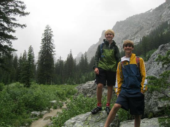Cascade Canyon: where the trail opens up