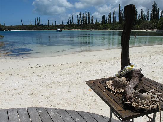 Oure Tera Beach Resort: View from the restaurant on Kanumera bay