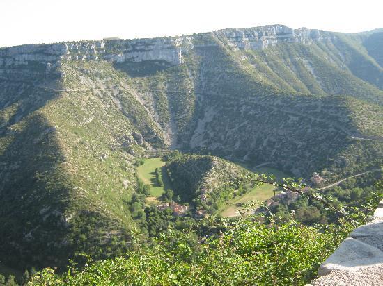 Saint-Maurice-Navacelles, France: Vue d'en haut