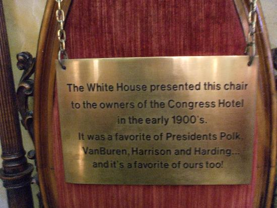 Presidential Chair In Lobby   Picture Of The Congress Plaza Hotel And  Convention Center, Chicago   TripAdvisor