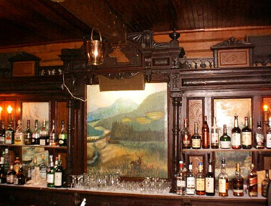 Slide Mountain Forest House: The handcarved bar